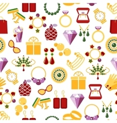 Jewelry seamless pattern background vector image vector image