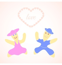 Pair in love card vector image vector image