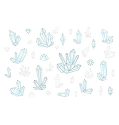 Set 18 fashion brightly colored diamonds hipster vector image