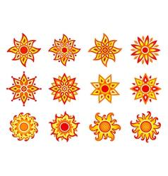 Stylized suns vector image