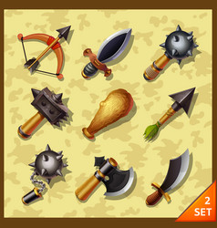 weapon icons-set 2 vector image