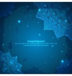 Abstract grunge indian blue ornament vector image