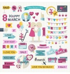 Happy Women Day set vector image vector image