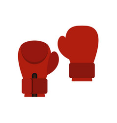 red boxing gloves icon flat style vector image
