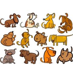 cartoon dogs or puppies big set vector image vector image