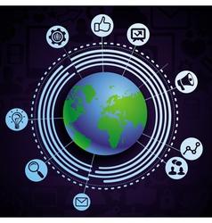 internet concept vector image vector image