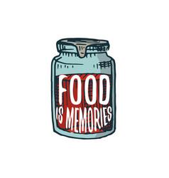 jam or kitchen utensils cooking stuff for menu vector image