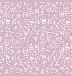 romantic wedding seamless pattern design vector image vector image