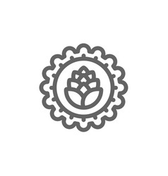 simple bottle cap line icon symbol and sign vector image