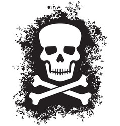 skull and bones pirate symbol in grunge style vector image