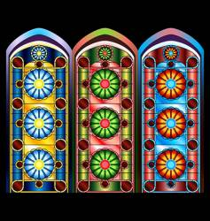 stained glass windows vector image vector image