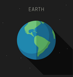 earth planet vector image
