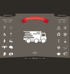 express delivery icon delivery car with an vector image