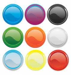 gloss buttons vector image vector image