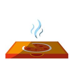 pizza flat shadow vector image vector image