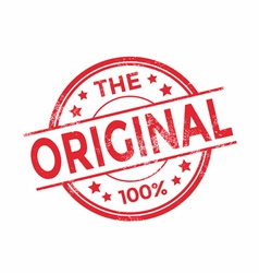 The Original rubber stamp red color vector image