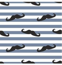 Tile moustache sailor blue white background vector image vector image