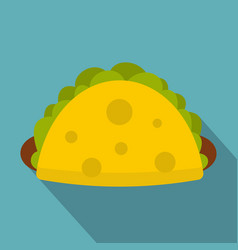tortilla wrap with vegetables icon flat style vector image