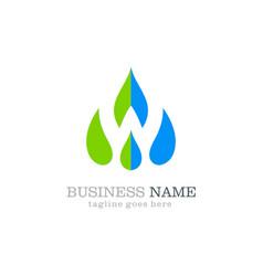 water drop logo design vector image vector image