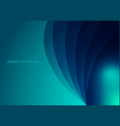 Abstract blue background curved layers with vector