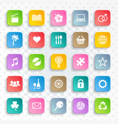 abstract modern web and mobile icons vector image