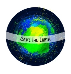 Abstract planet Save the Earth Bright spots vector