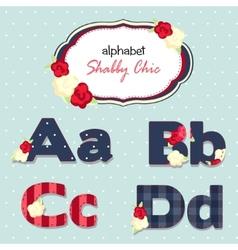 alphabet shabby chic seamless swatch vector image