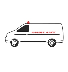 Ambulance van in flat design vector image