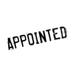 Appointed rubber stamp vector