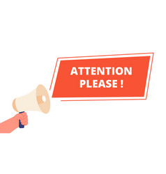 Attention please banner announce information vector