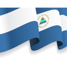 Background with waving Nicaragua Flag vector image