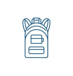backpack line icon concept backpack flat vector image