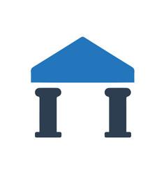 Bank finance icon vector