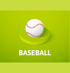 baseball isometric icon isolated on color vector image