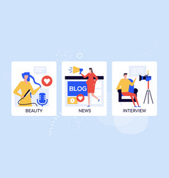 blogging professionals lifestyle colorful vector image