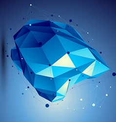 Blue 3D abstract technology perspective geo vector