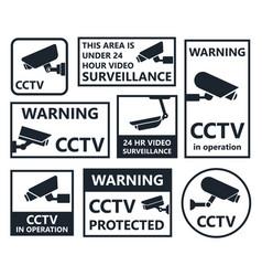 cctv icons security camera symbols vector image