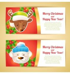 Christmas banner horizontal vector
