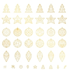 Christmas decoration elements vector image