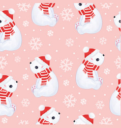 christmas pattern with animals vector image