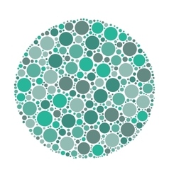 Circle of dots vector image