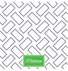 cobbles grid stripped seamless pattern vector image