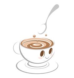 Coffee cartoon vector image vector image