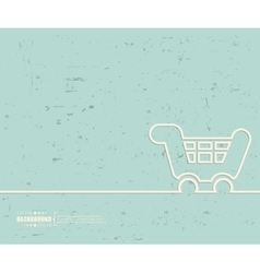 Creative cart Art template vector