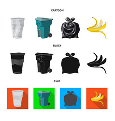 Design refuse and junk sign set of vector