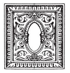 desk in san giorgio maggiore frame is an italian vector image
