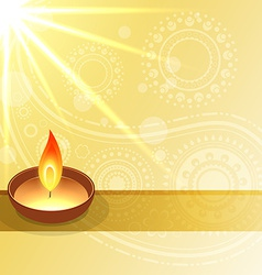 Diwali wishes design vector