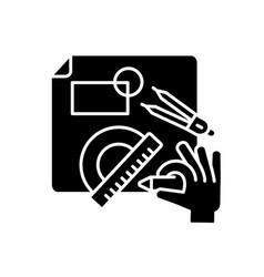 diy designing black glyph icon vector image