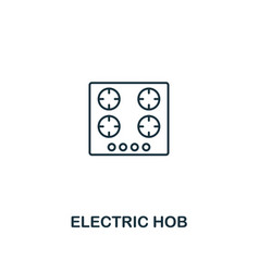 Electric hob icon thin style design from vector