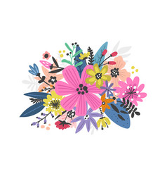 exotic flowers design vector image